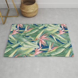 Flowers Birds of Paradise Rug
