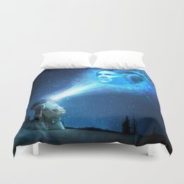 Our Lady of Stars Duvet Cover