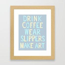 Wear Slippers - Sea -Art for Artists Framed Art Print