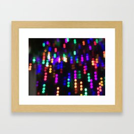 Night Lights in December no. 2 Framed Art Print