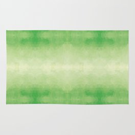 Mozaic design in soft green colors Rug
