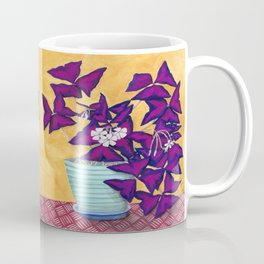 Purple Shamrock Houseplant Painting Coffee Mug