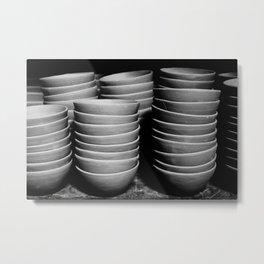 Pottery bowls Metal Print
