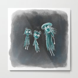 Coraline Ghost Children Metal Print