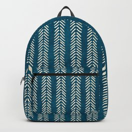 Mud cloth Teal Arrowheads Backpack