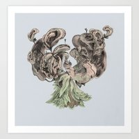 Ears of Madeira Art Print