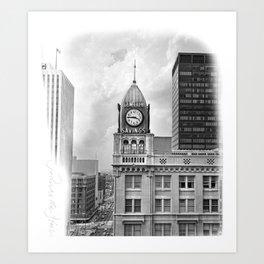 The Gem City Clock Art Print