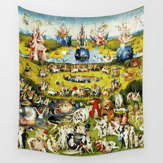 Bosch Garden Of Earthly Delights Panel 2 Wall Tapestry by ...Bosch Garden Of Earthly Delights Outside