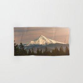 Mount Hood Vintage Sunset - Nature Landscape Photography Hand & Bath Towel