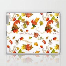 Autumn Leaves Hello Fall! Laptop & iPad Skin