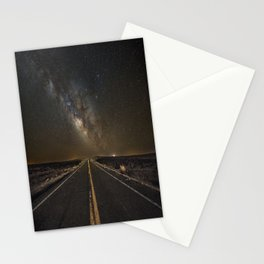 Go Beyond - Road Leads Into Milky Way Galaxy Stationery Cards