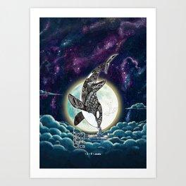 Kiss Good Night - Orca III Art Print