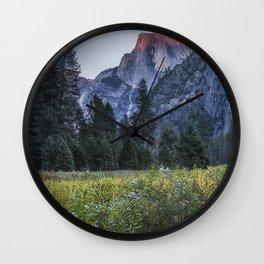 Light setting on Half Dome l Wall Clock