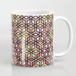 Geometric Pink and Gold Coffee Mug
