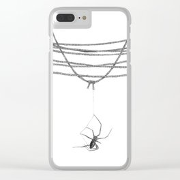 The Tangled Web We Weave Clear iPhone Case