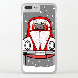 Sleigh Is In The Shop -Merry Christmas Clear iPhone Case