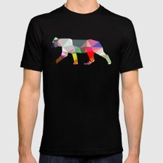Crystal Lioness Black LARGE Mens Fitted Tee