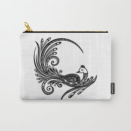 Decorative Peacock Illustration  Carry-All Pouch