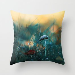 Fire in the Water Throw Pillow