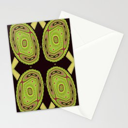 Chameleons Unite Abstract Pattern Stationery Cards