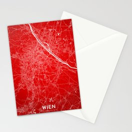 Wien map Stationery Cards