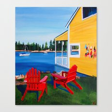 Coastal Cottage Canvas Print