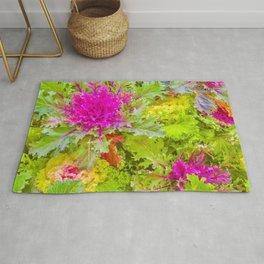 Colorful Nature Print Photo Rug