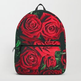 Red Roses Photography & Infinity Love Sign Backpack