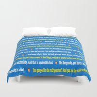 anchorman Duvet Covers featuring Anchorman Quotes by Dr. Spaceman40