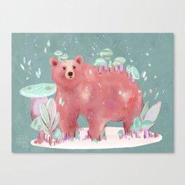 beary nice to meet you Canvas Print