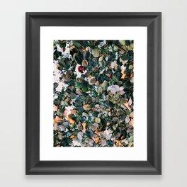 Leaves everywhere Framed Art Print