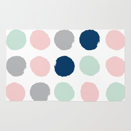 Minimal painted dots gender neutral home decor minimalist nursery baby polka dots Rug