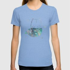 MerKitty Ocean Seashell X-LARGE Womens Fitted Tee Tri-Blue