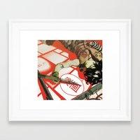 manga Framed Art Prints featuring MANGA! by Toni Infante