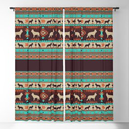Boho dogs | German shepherd sunset Blackout Curtain
