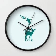 Animal Brassband Wall Clock