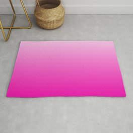 White - Pink Ombre Gradient Rug
