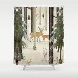 nature's way the deer Shower Curtain