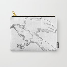 Northern Goshawk Swooping Doodle Art Carry-All Pouch