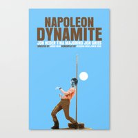 napoleon dynamite Canvas Prints featuring Napoleon Dynamite Movie Poster Cult by FunnyFaceArt