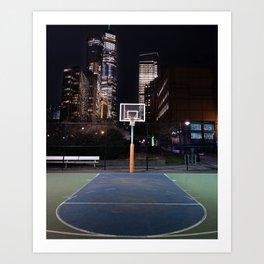 Basketball court New York City Art Print