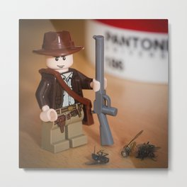 Indy Flies Hunter Metal Print