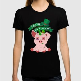 Kiss Me I'm A Unicorn St Patrick's Day Pig T-shirt