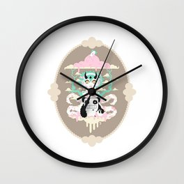 Monster In Heaven Wall Clock
