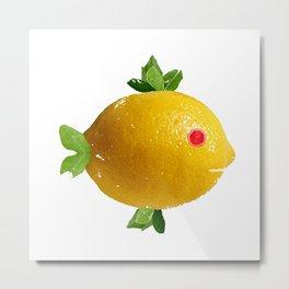 Lemon Fish Fantasy Metal Print