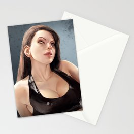 Goth babe Stationery Cards