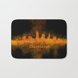 Cleveland City Skyline Hq V4 Bath Mat