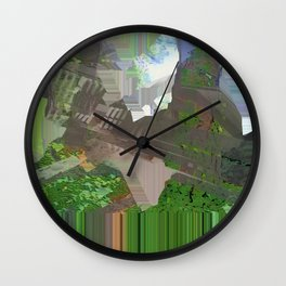 roundabout way home Wall Clock