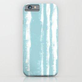 Shibori Stripe Seafoam iPhone Case
