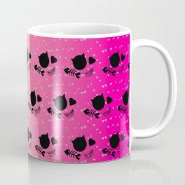 Tropical Pink Radient Cat Gems Pattern Coffee Mug